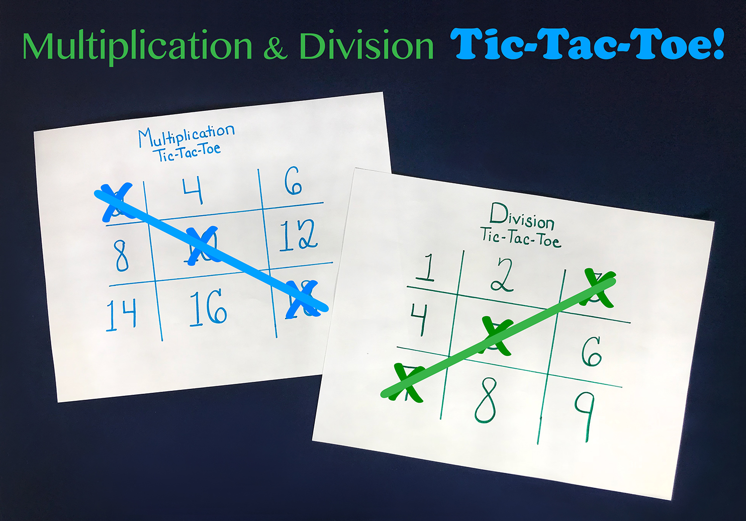 Multiplication and Division Tic-Tac-Toe