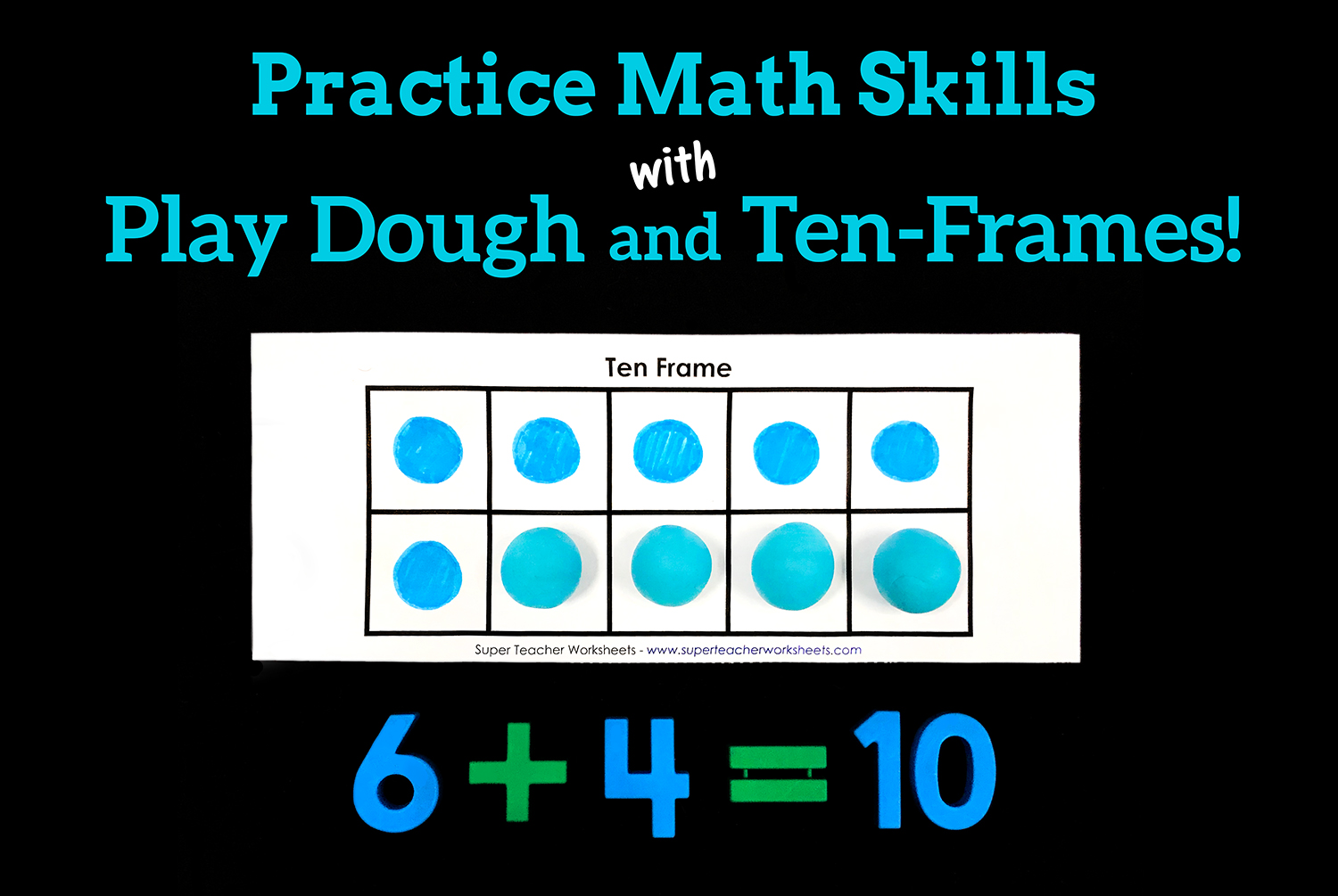 Play Dough Ten Frames Activities