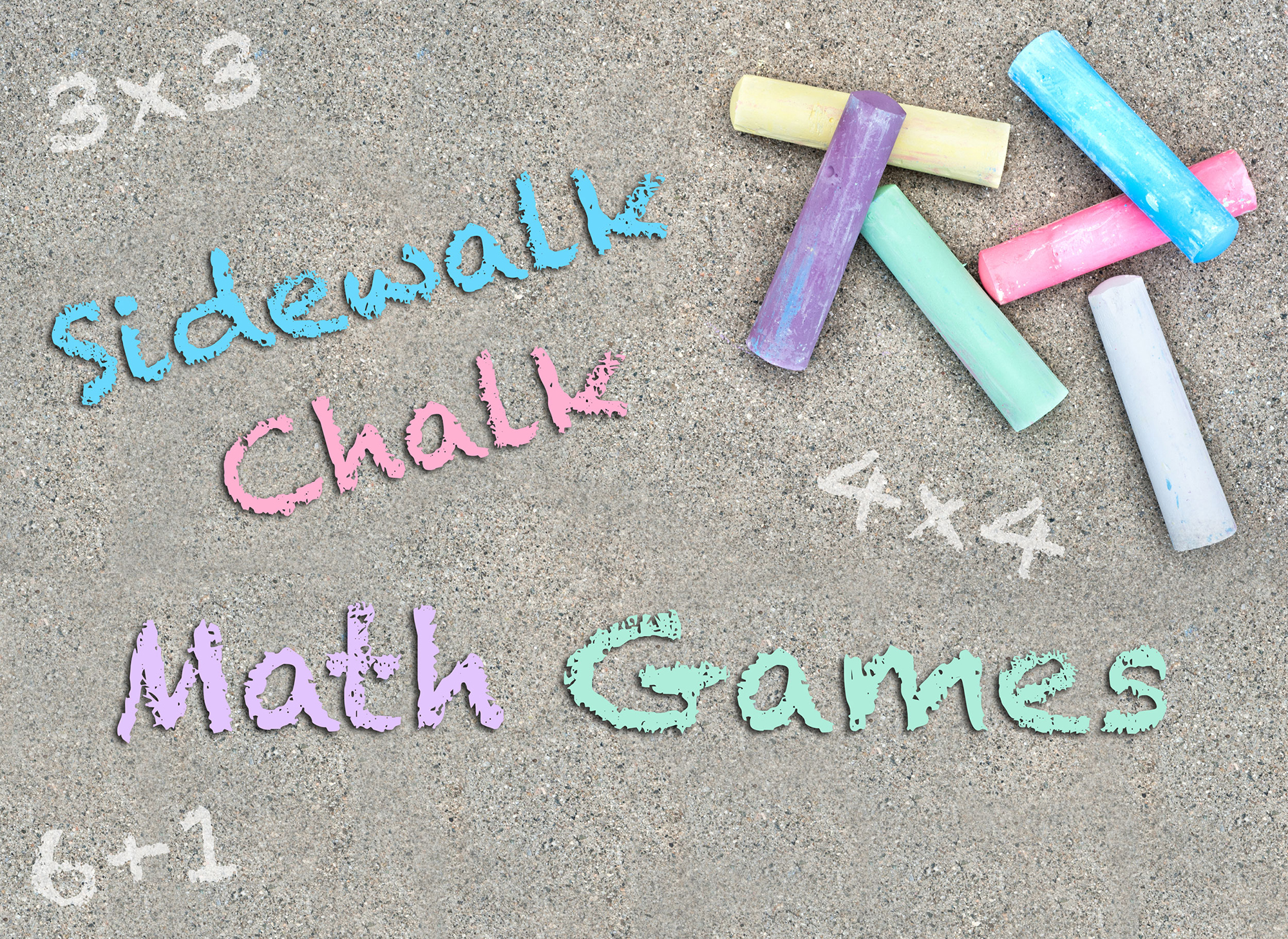 Math Games with Sidewalk Chalk